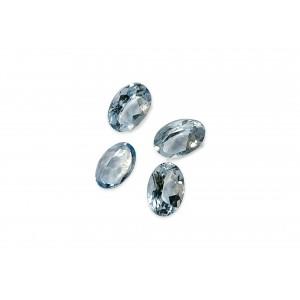 Blue Topaz Cut Stone, Oval, Light, 4 X 6 mm