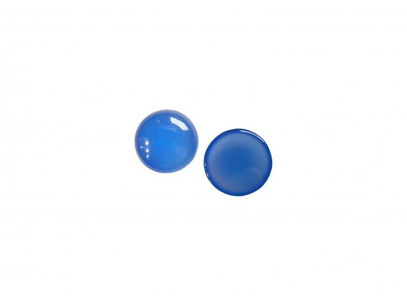 Chalcedony Cabs, Round, 10 mm
