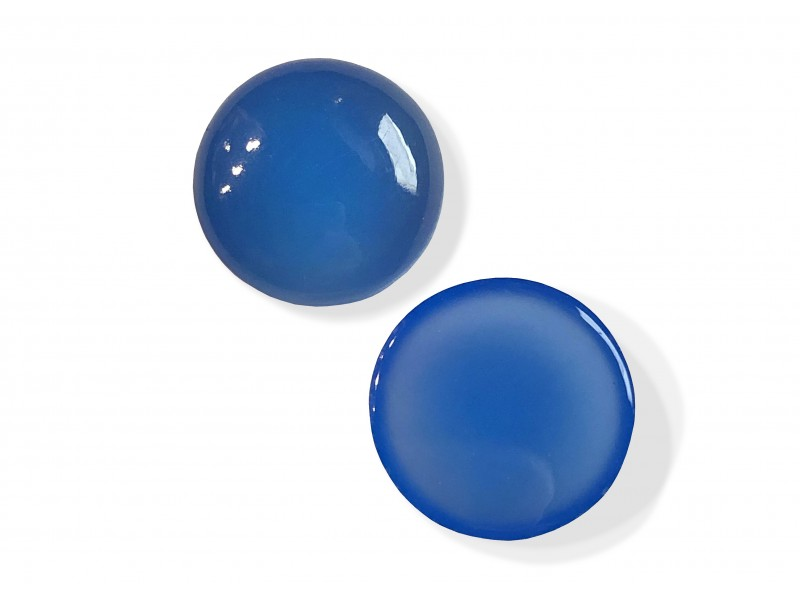 Chalcedony Cabs, Round, 15 mm