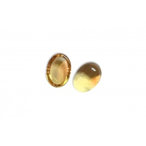 Citrine Cabs, Oval, 6.7*4.6 mm