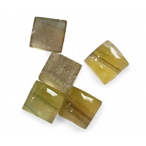 Fluorite Cabs, Square, 10 mm