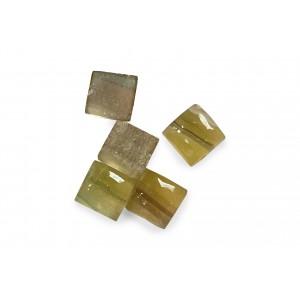 Fluorite Cabs, Square, 7 mm