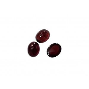 Garnet Cabs, Oval, 5 x 7 mm