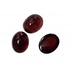 Garnet Cabs, Oval, 8 x 10 mm