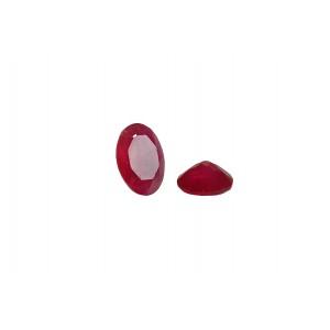 Agate Cut Stone, Pink, Oval, 4 x 6 mm