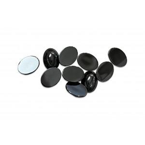 Hematite Cabs, Oval, 6 x 8 mm