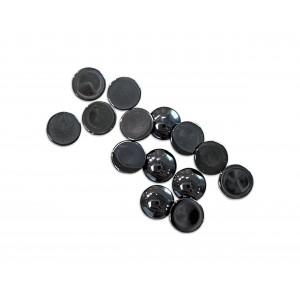 Hematite Cabs, Round, 5 mm