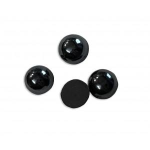 Hematite Cabs, Round, 6 mm