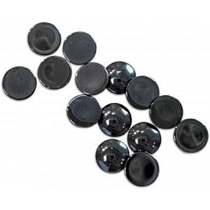 Hematite Cabs, Round, 8 mm