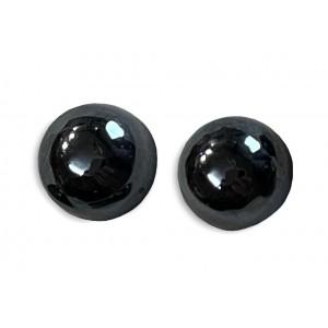 Hematite Cabs, Round, 12 mm
