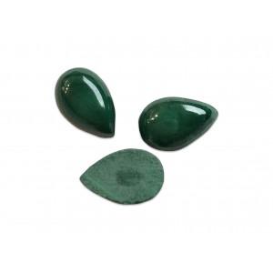 Malachite Cabs, Pear, 5 x 8 mm