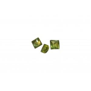 Peridot Cut Stone Buff top, Square, 4 mm