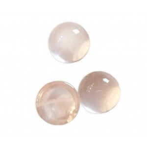 Rose Quartz Cabs, Round, 12 mm