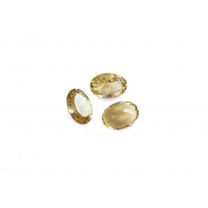 Sapphire Cut Stone, Oval, Yellow, 4 x 5 mm