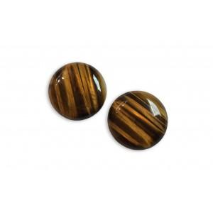 Tiger Eye Cabs, Round, 25 mm