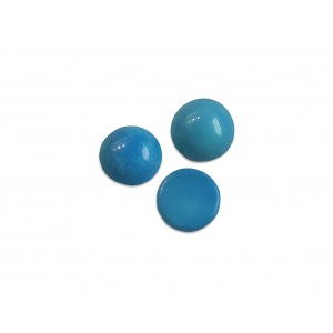 Turquoise Cabs, Round, 5 mm