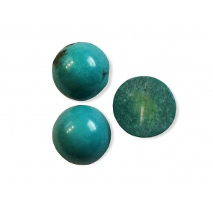 Turquoise Cabs Round 12mm