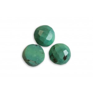 Turquoise Cut Stone Round 7 mm