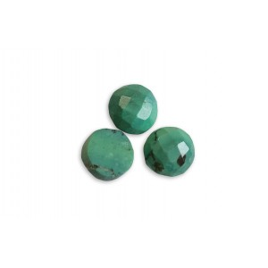 Turquoise Cabs, Round, 9 mm