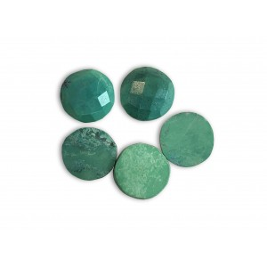 Turquoise Cabs, Round, 10 mm
