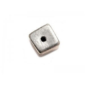 Sterling Silver 925 Ethnic Bead 1.4gr 5.7 x 7.9mm