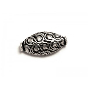 Sterling Silver 925 Ethnic Bead 0.88gr 17.6 x 15.2mm, Thickness 3.1mm