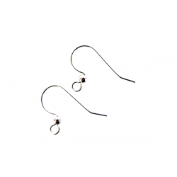Sterling Silver 925 Ear Wires with ball