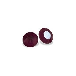 Ruby Round Cut Stone, 6mm