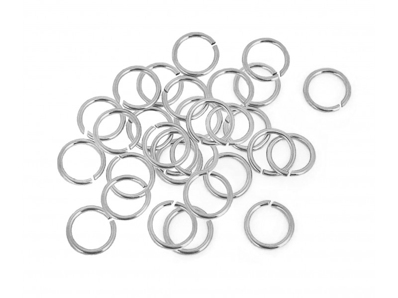 S925 OPEN JUMP RING  (0.7 mm/4.9 mm )