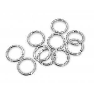 PACK OF 1 GRAM, S925 OPEN JUMP RINGS  (0.8mm /6.1mm (ext)