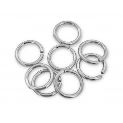 PACK OF, S925 OPEN JUMP RINGS  (1.0 mm/8.0 mm (ext)  [6.0mm int.]