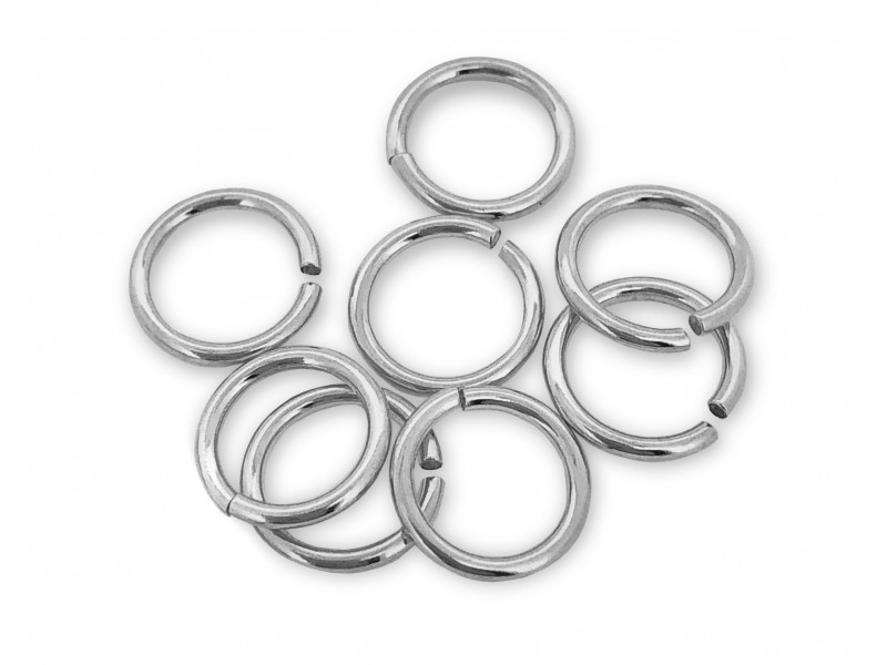 PACK OF 1 GRAM, S925 OPEN JUMP RINGS  (1.0 mm/6.0 mm (ext)  [4.0mm int.]