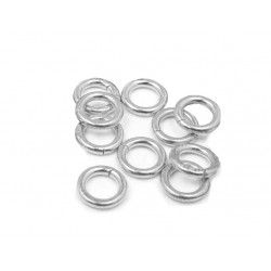 S925 OPEN JUMP RING  (1.0 mm/5.0 mm (ext)