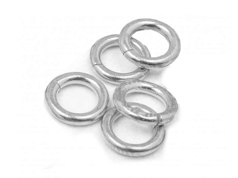 S925 OPEN JUMP RING  (1.0 mm/6.5 mm (ext)  [4.5mm int.]