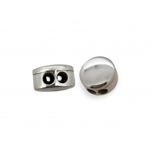 S925 FLAT SLIDER CLASP BEAD WITH 2 HOLES