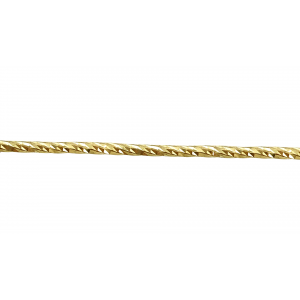 9K Gold Diamond Cut Wire 1.0mm, yellow