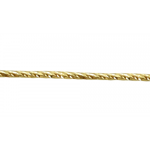 9K Gold Diamond Cut Wire 1.5mm, yellow