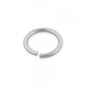 9K WHITE MEDIUM WEIGHT OPEN JUMP RINGS 1/6mm (ext)