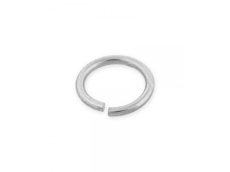9K WHITE MEDIUM WEIGHT OPEN JUMP RINGS 1/6mm (ext)