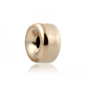 18K Yellow Gold Rondelle bead 3mm