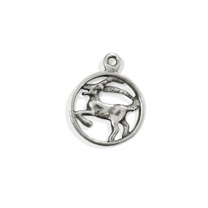 925 SILVER PENDANT - LARGE CAPRICORN SIGN