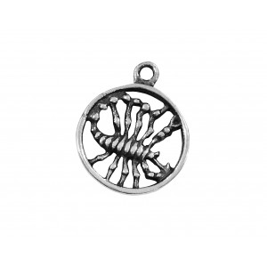 925 SILVER PENDANT - LARGE SCORPIO SIGN