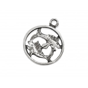 925 SILVER PENDANT - LARGE PISCES SIGN