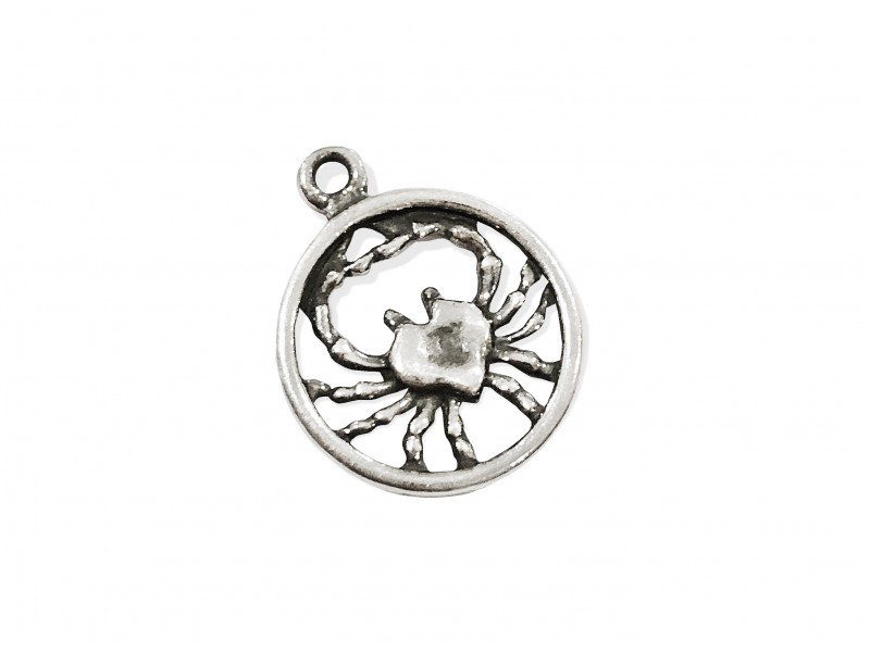 925 SILVER PENDANT - LARGE CANCER SIGN
