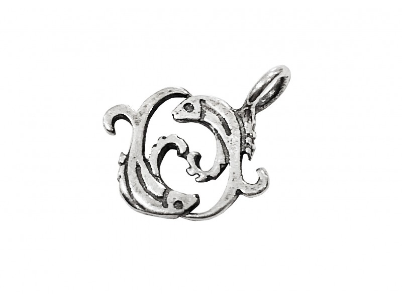 925 SILVER PENDANT - SMALL PISCES SIGN