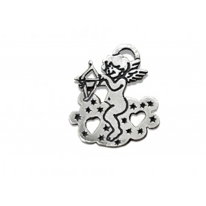 925 SILVER CUPID ON CLOUD PENDANT