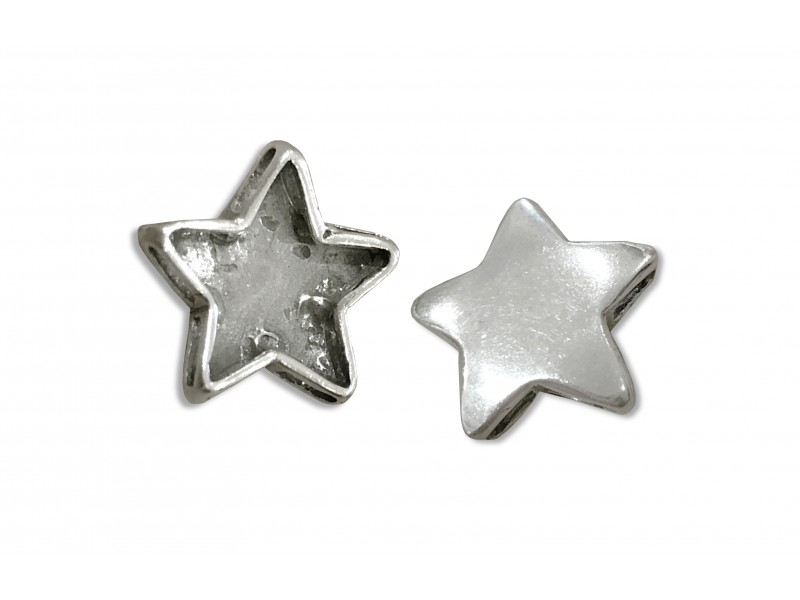 925 SILVER LARGE STAR PENDANT W/SILDE SLOTS