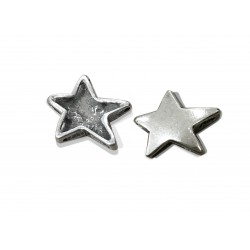 925 SILVER SMALL STAR PENDANT WITH SLIDE SLOTS