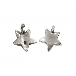 925 SILVER SMALL STAR PENDANT W/OPEN CONNECTION RING