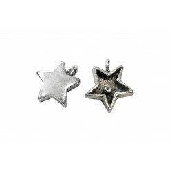 925 SILVER LARGE STAR PENDANT W/OPEN CONNECTION RING